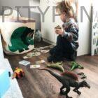 3 Sprouts játéktartó - dinoszaurusz