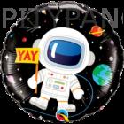 Lufi / Qualatex / Astronaut birthday - szülinapi világűr fólia lufi