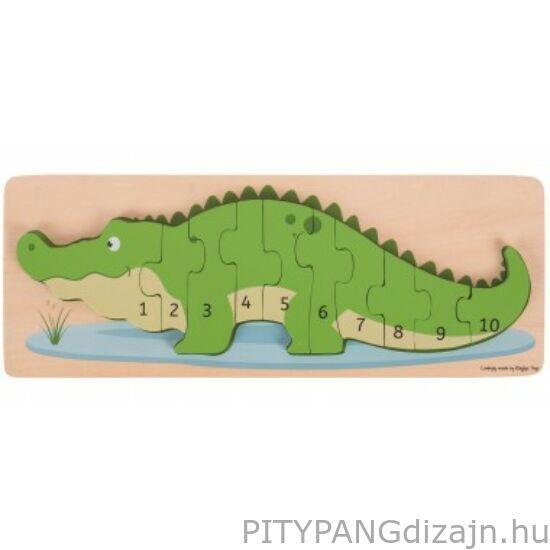 Bigjigs / Krokodil számoló puzzle