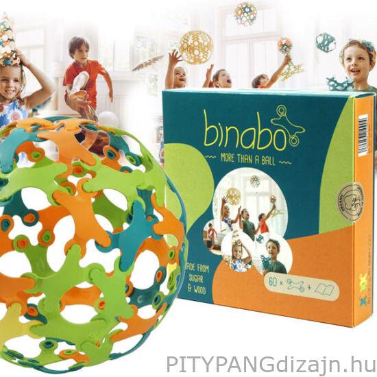 Binabo építőjáték 60 db-os készlet - színes