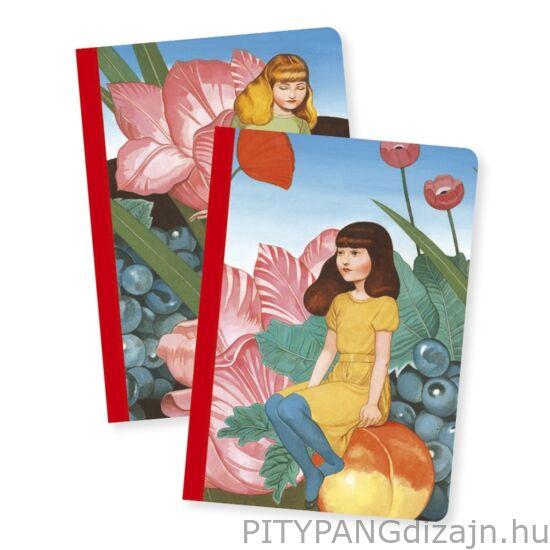 Djeco Lovely Paper / jegyzetfüzet 2 db A/6 - Fedora little notebooks