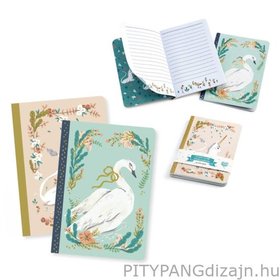 Djeco: Lovely Paper / jegyzetfüzet 2 db A/6 - Lucille little notebooks