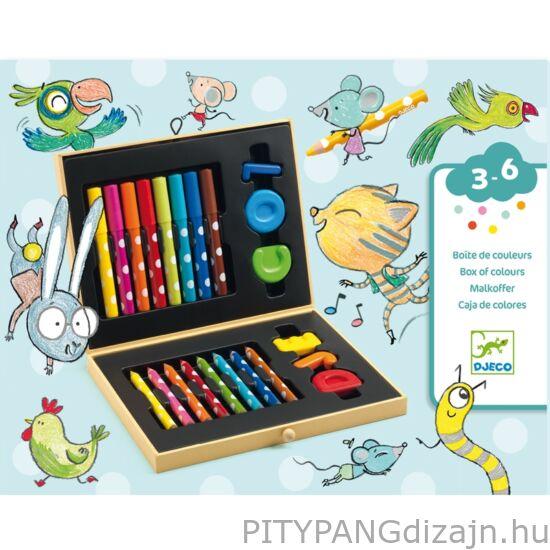 Djeco kreatív készet / Kicsik színes készlete