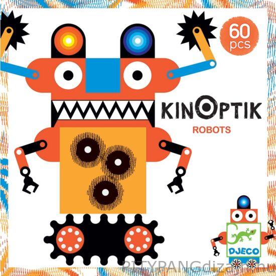 Djeco kirakó / Optikai puzzle - Robotok - Kinoptik Robots - 60 db-os