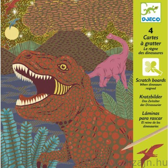 Djeco kreatív készlet/ Karckép technika - Dinoszauruszok