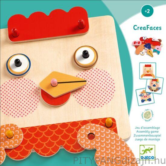 Djeco / Szerelő játék - Tiki-taki arcocska - CreaFaces