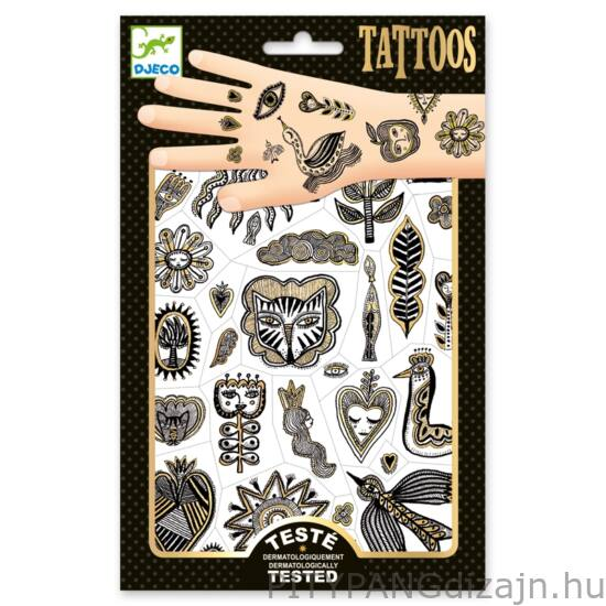 Djeco kreatív készlet / Tetoválás - Golden chic