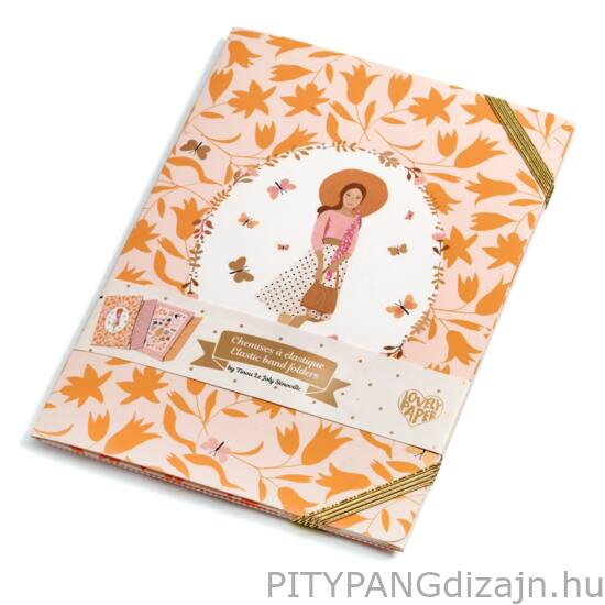 Djeco Lovely Paper / Tinou elastic band folders