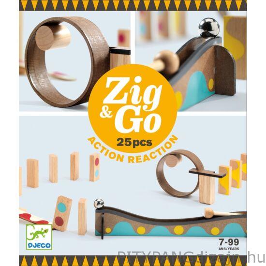 Djeco építőjáték / Építőjáték - Sokasodó 25 db - Zig & Go - 25 pcs