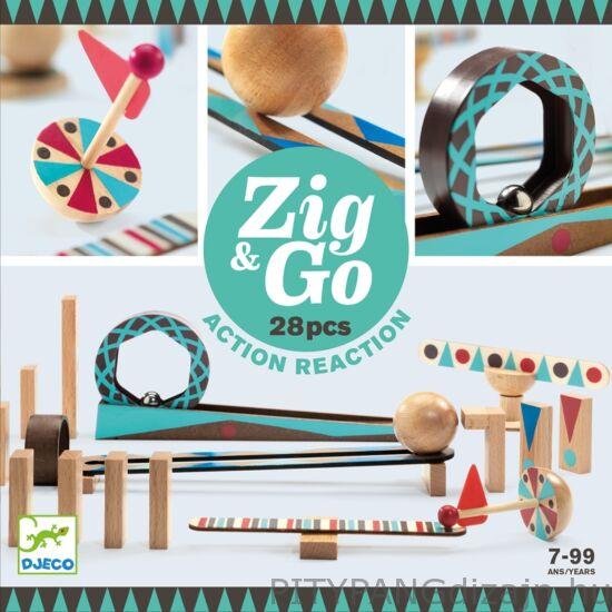 Djeco építőjáték / Zig &Go - 28db