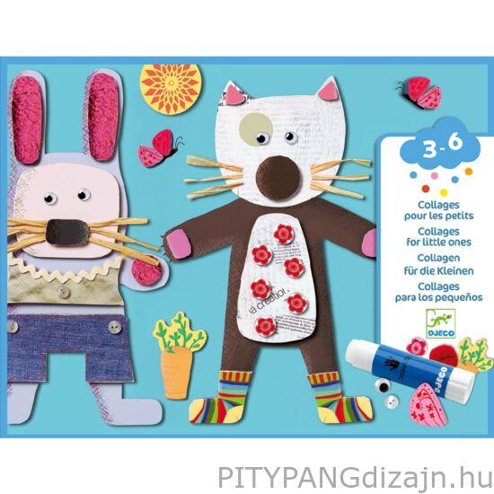 Djeco kreatív készet / Kollázs műhely - Kicsiknek - Collages for little ones