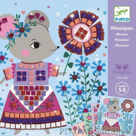 Djeco kreatív készet / Mozaikkép készítés - Édes háziállatok - Lovely pets