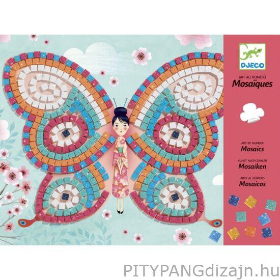 Djeco kreatív készlet/ Mozaikkép készítés - Pillangók
