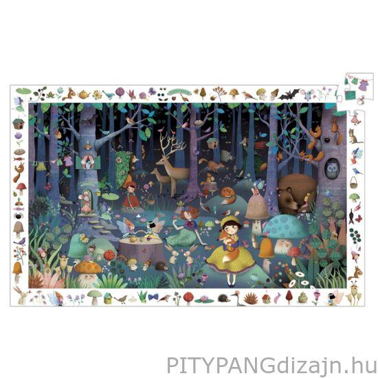 Djeco kirakó/ Megfigyeltető puzzle - Elvarázsolt erdő, 100 db-os