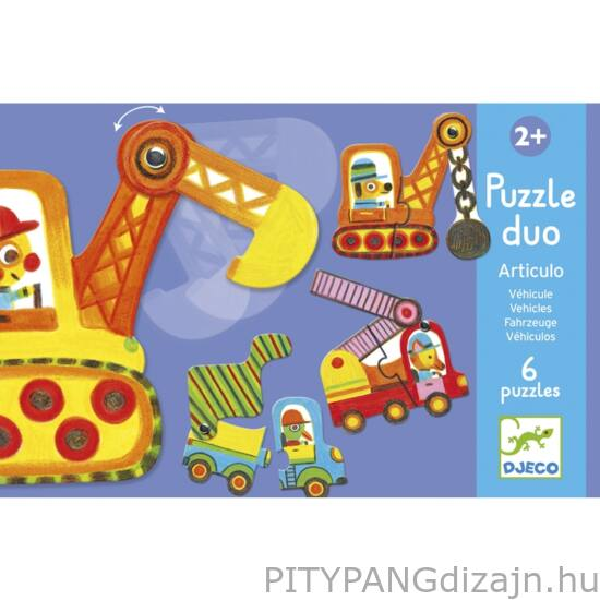 Djeco kirakó/ Járművek-mozgatható párosító puzzle