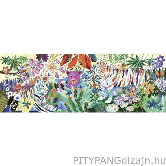 Djeco kirakó/ Művész puzzle - Szivárványos tigrisek
