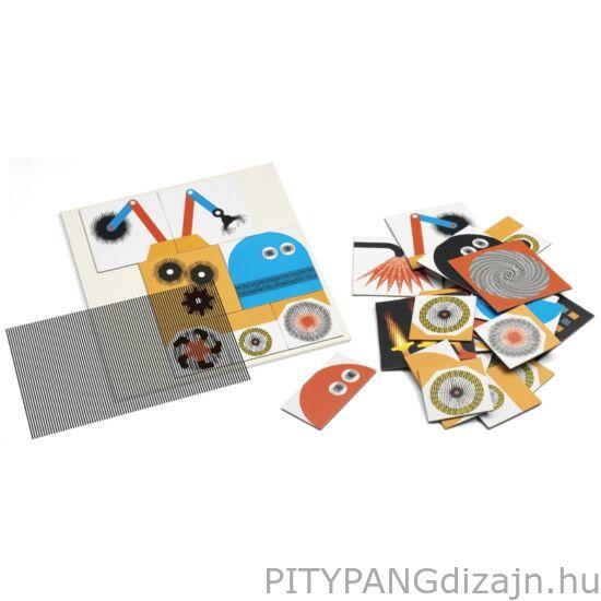 Djeco kirakó/ Optikai puzzle - Kinoptik Véhicles