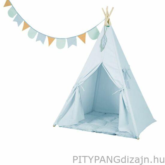 Little Dutch / Indián sátor szőnyeggel és zászlókkal, kék