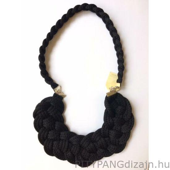 Mandaril Jewelry / Nagy perec nyaklánc-fekete