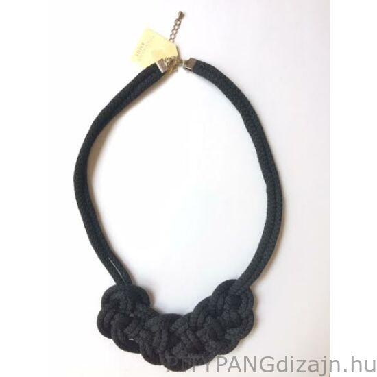 Mandaril Jewelry / Kis perec nyaklánc-fekete