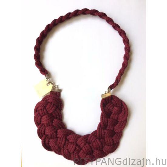 Mandaril Jewelry / Nagy perec nyaklánc-bordó