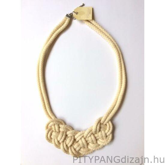 Mandaril Jewelry / Kis perec nyaklánc-ekrü