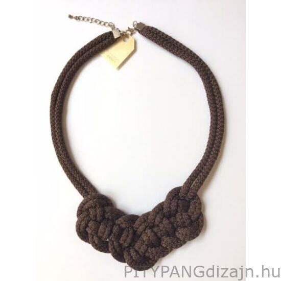 Mandaril Jewelry / Kis perec nyaklánc-barna