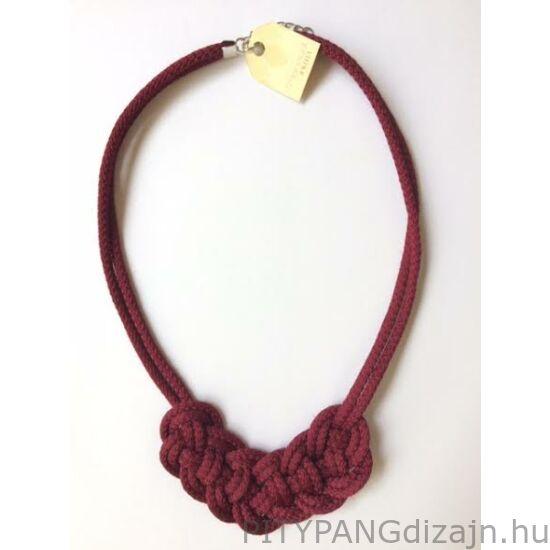 Mandaril Jewelry / Kis perec nyaklánc-bordó