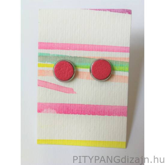Manuka ékszer / nemesacél fülbevaló - pink