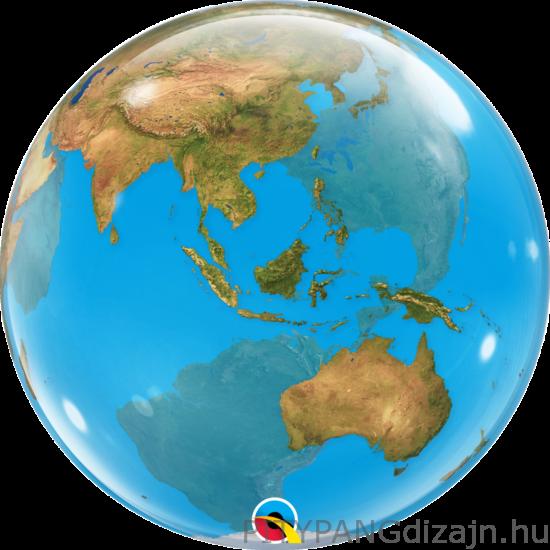 Lufi / Qualatex / Földgömb - Planet Earth Bubble Lufi
