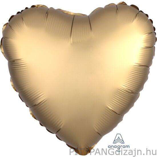Lufi / Anagram / Gold sateen heart