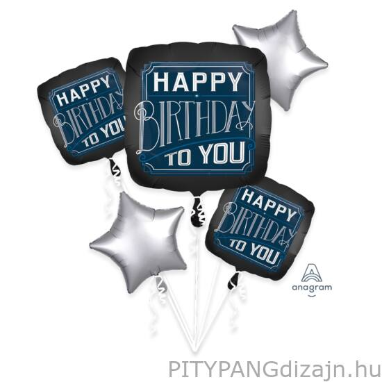 Lufi / Anagram / Happy birthday fólia lufi 5 db-os szett