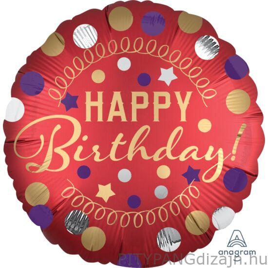 Lufi / Anagram/ 18 inch Happy Birthday pöttyös lufi