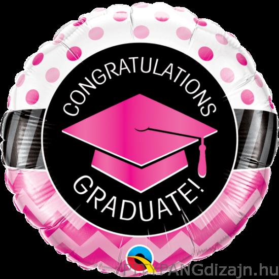 Lufi / Qualatex / Graduate Pink Chevron Dots