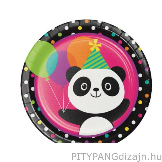 Panda parti tányér