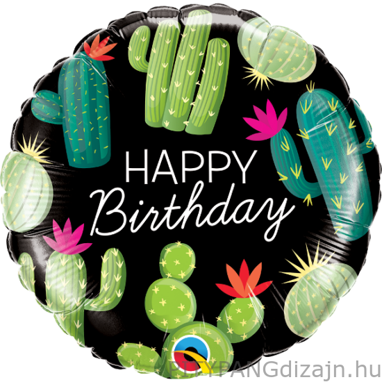 Lufi / Qualatex / Birthday Cactuses fólia lufi