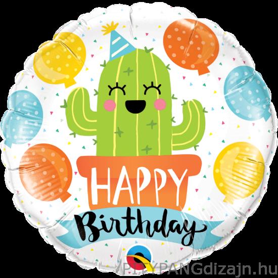 Lufi / Qualatex / Birthday Party Cactus fólia lufi