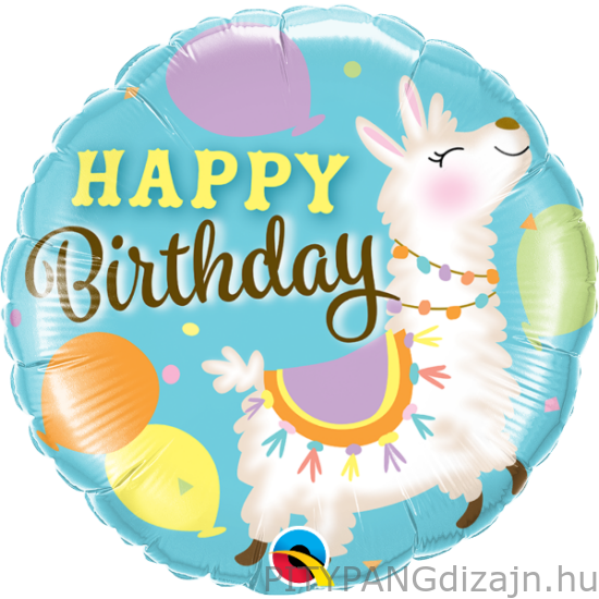 Lufi / Qualatex / Birthday Lama fólia lufi