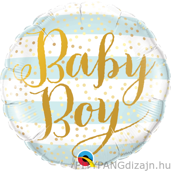 Lufi / Qualatex / Baby Boy Blue Stripes