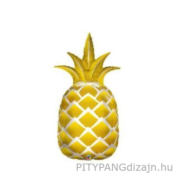 Lufi / Qualatex / Arany ananász Fólia Lufi