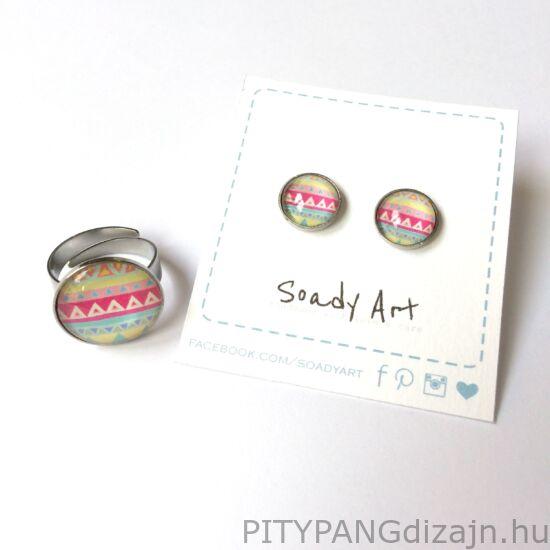 Soady Art nemesacél ékszerek / gyűrű - mintás
