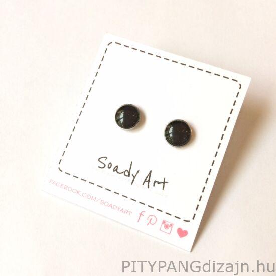Soady Art nemesacél ékszerek / fülbevaló fekete-kicsi