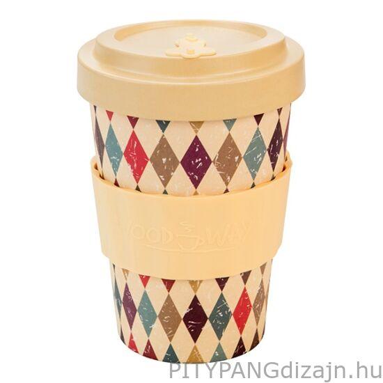 Woodway / kávés pohár /  Retro Diamonds (400 ml)