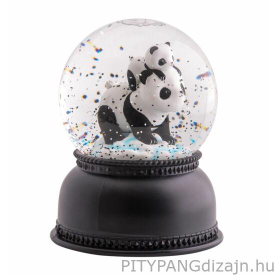 A little lovely company - Csillámgömb, panda