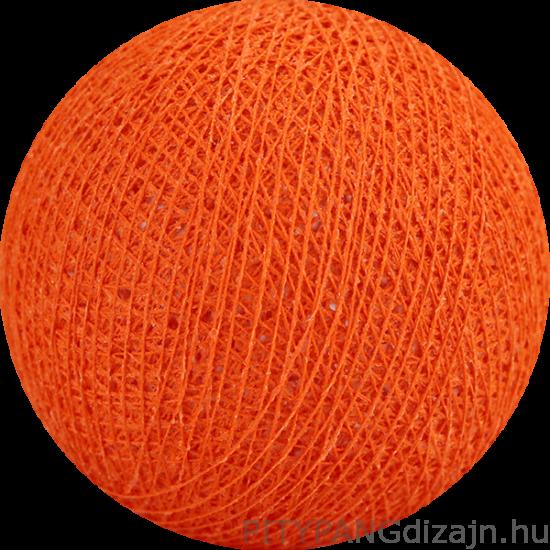 Cotton Ball Lights/ gömbök - dutch orange