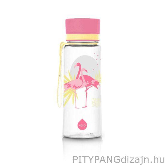 EQUA BPA mentes műanyag kulacs / Flamingó