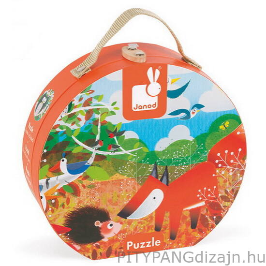 Janod / Erdő puzzle bőröndben