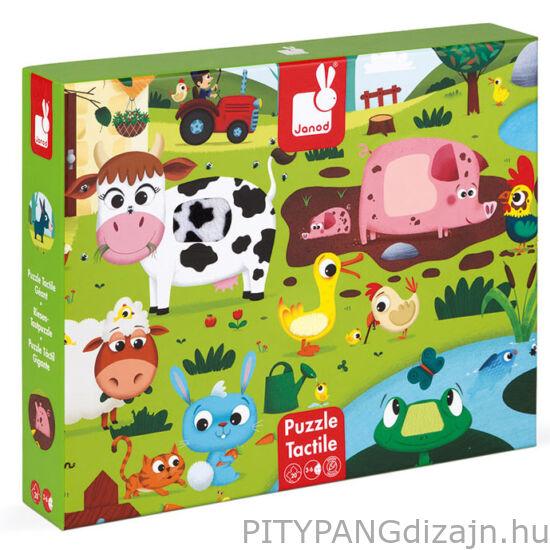 Janod/ Tapintós puzzle - Farm állatok