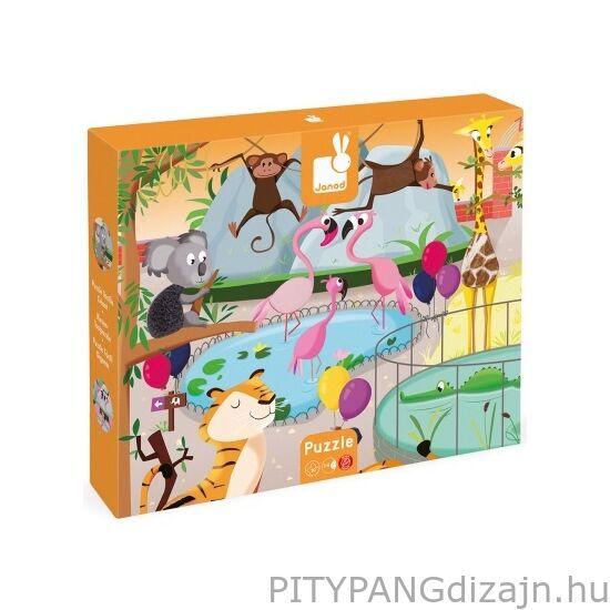 Janod /Tapintós puzzle/Egy nap az állatkertben