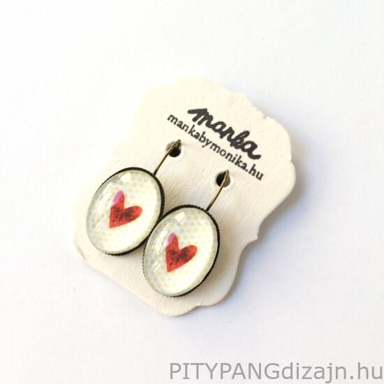 Manka ékszer/ Aliz ovális fülbevaló